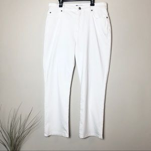 Eileen Fisher White Ankle Stretch Jeans